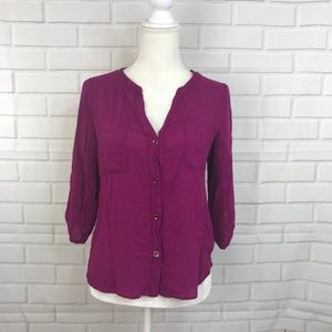 ⭐️Needle & Thread Womens Purple Button Down Shirt